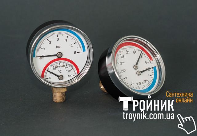 Термоманометр фронтальный и радиальный