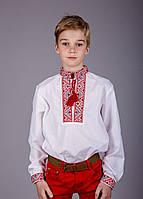 Вышитая рубашка крестиком на белом батисте
