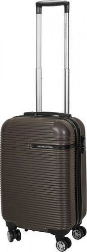 Компактный чемодан Vip Collection Maldivas 19 Anthracite MDS.19.grey на 4-х колесах 36 л, темно-серый