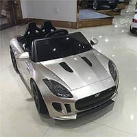 Детский электромобиль Jaguar DMD 218 серебро автопокраска, лицензия, колеса EVA, пульт 2.4G, чехлы эко-кожа