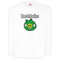"""Детская футболка с длинным рукавом """"Bad piggies 2 """"(Плохие свинки)"""