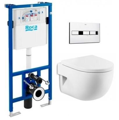 Набір Rocа: унітаз H-MERIDIAN Compacto, інсталяція PRO, кнопка, сидіння A34H248000+89009000K+890096001