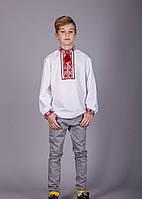 Вышитая рубашка крестиком на подростка