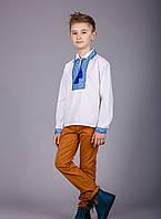 Вышиванка для мальчика с воротничком