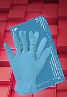 Перчатки латексные RALATEX-BLUE, фото 1