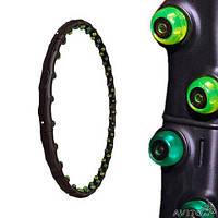 Обруч массажный Hula Hoop JS-6002 DOUBLE GRACE MAGNETIC (1,35кг, пластик, 8 секций, d-97см,с магнит)