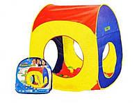 Игровой домик палатка для детей 8080: самораскладывающийся, текстиль, 78х78х98 см, 3+ лет