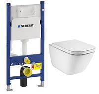 Унітаз GAP Clean Rim з сидінням, інсталяція Geberit 3в1  A34H47C000+458.126.00.1