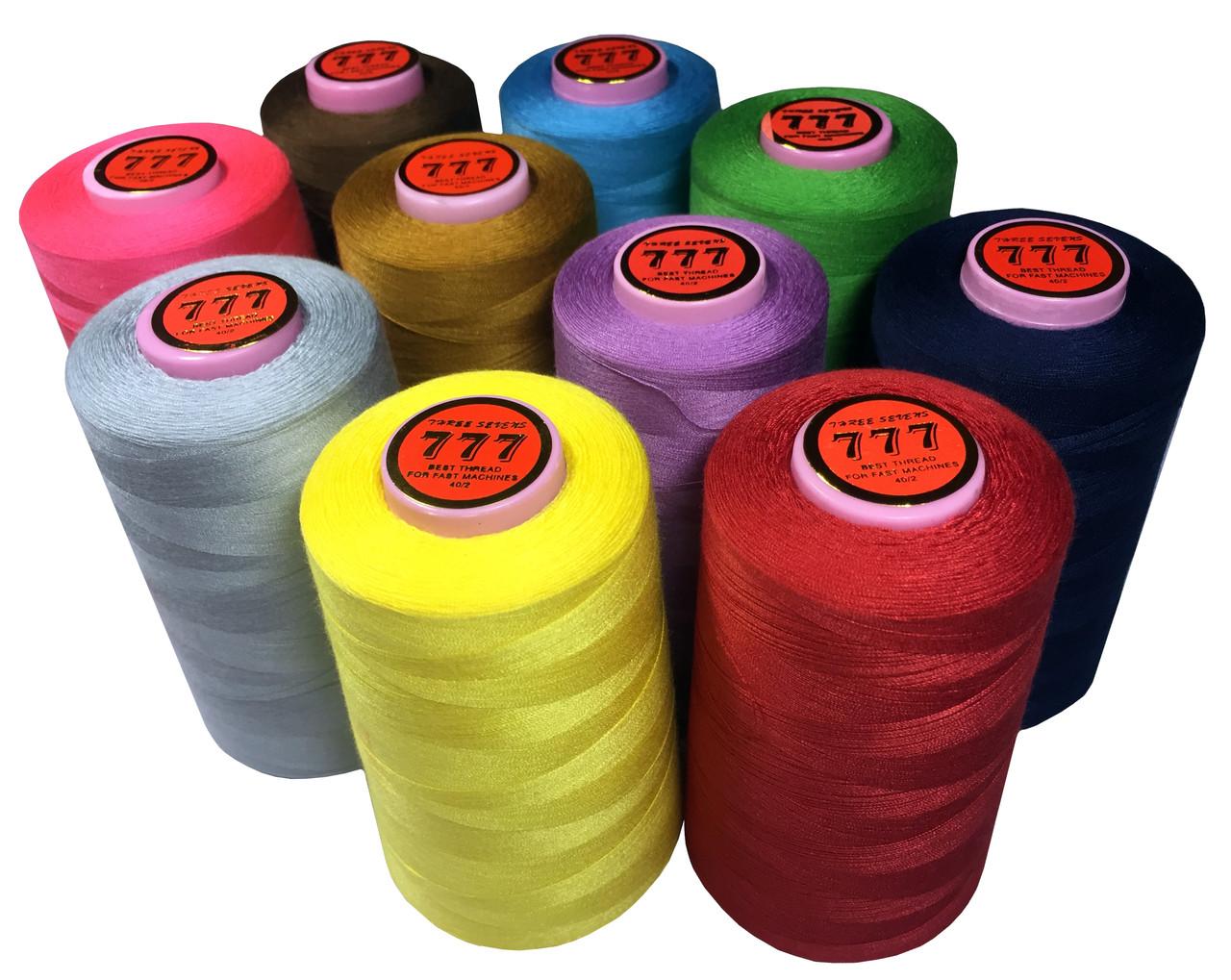 Нитки швейные 777 40/2 (4500m) полиэстер 100% цветные