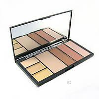 Палитра профессиональная для коррекции лица Protection Professional MakeUp Palette Malva cosmetics #03 M-470