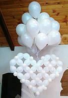 Сердце на запуск белое свадебное