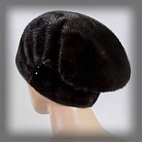 Меховая шапка из норки женская (коричневая)