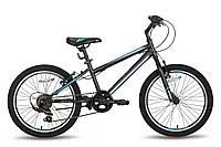 """Детский велосипед PRIDE JACK 6 черно-синий матовый, 20"""" (BB)"""