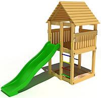 """Детский комплекс Kidigo """"Милый"""" с пластиковой горкой высотой 1,5  м"""