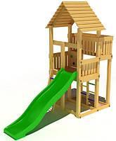"""Детский комплекс Kidigo """"Родной"""" с пластиковой горкой высотой 1,5  м"""