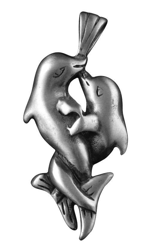 """Амулет """"Целующиеся Дельфины"""""""
