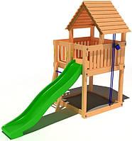 """Детский комплекс Kidigo """"Чудесный"""" с пластиковой горкой высотой 1,5  м"""
