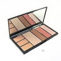 Палитра профессиональная для коррекции лица Protection Professional MakeUp Palette Malva cosmetics #02 M-470