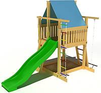 """Детский комплекс Kidigo """"Волшебный"""" с пластиковой горкой высотой 1,5  м"""