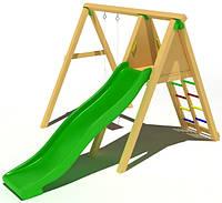 """Детский комплекс Kidigo """"Уютный"""" с пластиковой горкой высотой 1,5  м"""