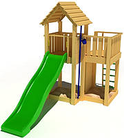 """Детский комплекс Kidigo """"Заманчивый"""" с пластиковой горкой высотой 1,5  м"""