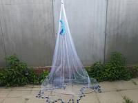 Кастинговая сеть (Парашют) леска 0.3 заводской 10 ячейка 10 метров шнур