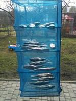 Сушилка большая для рыбы, грибов, фруктов (Сетка для сушки) на 5 полок усиленный каркас