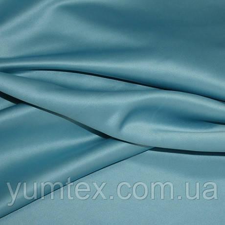 Атлас плотный микрофибра, цвет морская волна