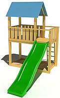 """Детский комплекс Kidigo """"Добрый"""" с пластиковой горкой высотой 1,5 м"""
