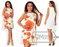 Летнее платье с разным цветочным принтом Батал и-202152