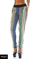 Штаны женские с карманами в цветную полоску