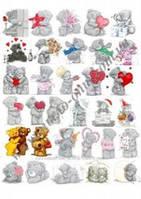 Картинки на водорастворимой бумаге Мишки 1 лист / 30 листов