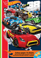 Бумага цветная двусторонняя Hot Wheels HW16-250
