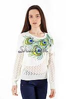 Джемпер женский, павлинный хвост