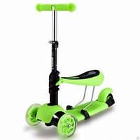 Самокат с сиденьем i-Trike Maxi JR 3-016: руль 49-71 см, 3 положения сиденья, 6 цветов, 1-6 лет