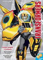Бумага цветная двусторонняя Transformers TF16-250