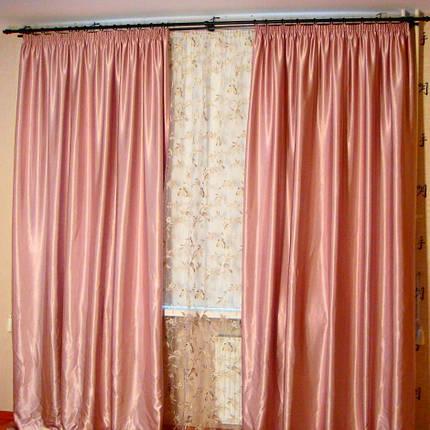 Шторы портьерные Шанзелизе Розовые(2 шторы), фото 2
