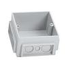 Монтажная коробка под заливку в бетон для лючков на 3 модуля (пластик)