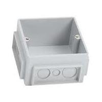 Монтажная коробка под заливку в бетон для лючков на 3 модуля (пластик), фото 1