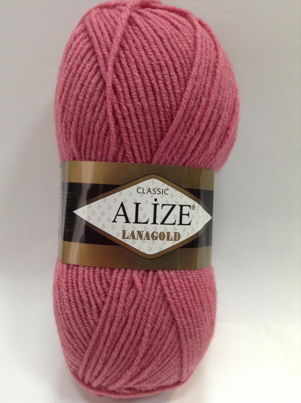 Пряжа lana gold - цвет темно-розовый (фуксия)