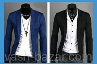 Стильный мужской пиджак - Черный, Синий Маретиал: Хлопок и полиэстер