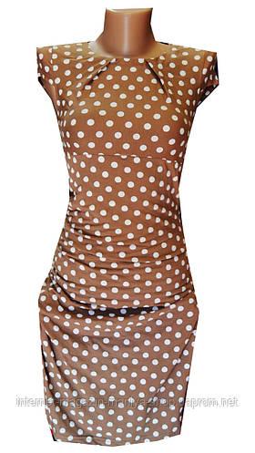 Платье женское горох