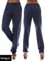 Штаны летние с карманами принт значки LV - Темно-сини