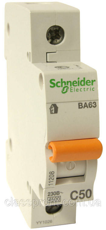 Автоматичний вимикач ВА63 1П 16A C , Домовик, Schneider