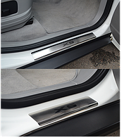Накладки на пороги BMW X5 II (E70) 2006- 4шт. premium