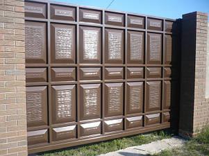 Ворота металлические филенчатые