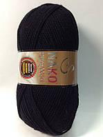 Пряжа nako pure wool - цвет черный