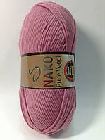 Пряжа nako pure wool - цвет розовый