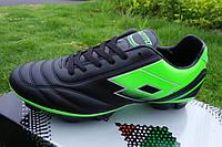 Футбольные бутсы Lotto Spider X FG Black/Fluorescent Mint, фото 1