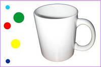 Чашки белые, 310 мл. Печать фото